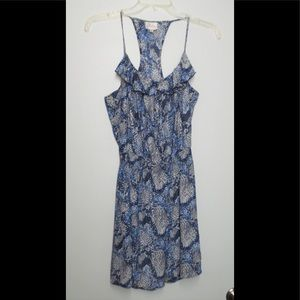 PARKER Silk Racerback Adorable Print Dress Size M